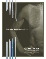 Thoracic Catheter - Atrium Medical Corporation