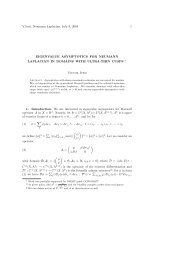 Eigenvalue asymptotics for Neumann Laplacian in domains with ...
