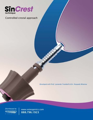 Download Crestal Sinus Lift Kit Product Information - Osteogenics
