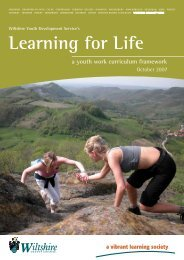 Learning for Life - a youth work curriculum ... - Wiltshire Council