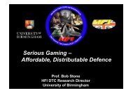 Serious Gaming - Human Factors Integration Defence Technology ...