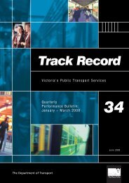 Track Record 34, January to March 2008 - Public Transport Victoria