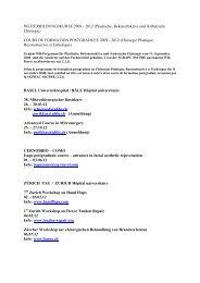 WEITERBILDUNGSKURSE 2004/2005 - sgprac/sscpre