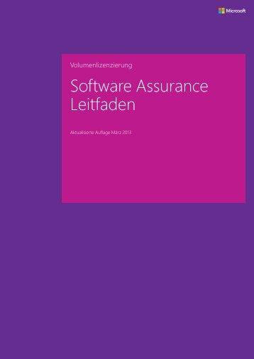 Microsoft Software Assurance-Leitfaden für Kunden - Download ...