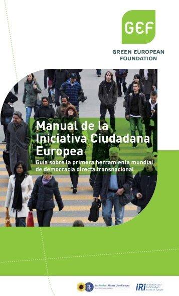 Manual de la Iniciativa Ciudadana Europea - GEF
