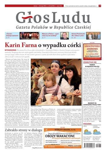 Karin Farna o wypadku córki - GlosLudu.cz