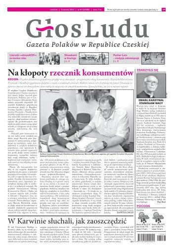 Na kłopoty rzecznik konsumentów - GlosLudu.cz