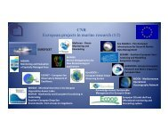 CNR European projects in marine research (1/2) European projects ...