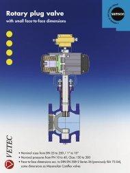 Rotary plug valve - Samson Regeltechniek
