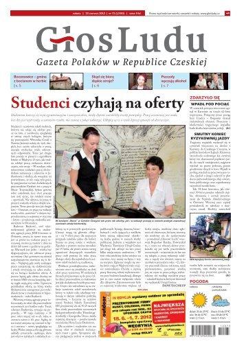 Studenci czyhają na oferty - GlosLudu.cz