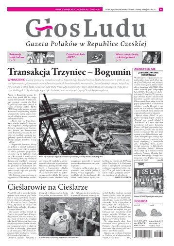 Transakcja Trzyniec – Bogumin - GlosLudu.cz