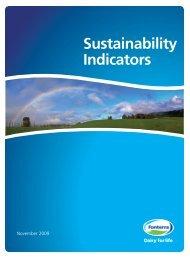 Sustainability Indicators - Fonterra