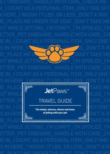 Pet Travel Guide - Jetblue