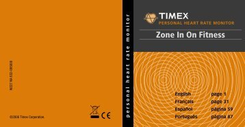 persona l he art rate mon it or English page 1 Français page ... - Timex