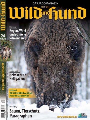 Sauen, Tierschutz, Paragraphen - Hubertus Fieldsports