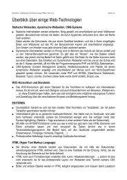 Überblick über Techniken im Web [PDF | 57 KB]