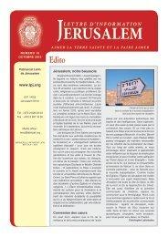 16 ème numéro - Patriarcat latin de Jérusalem