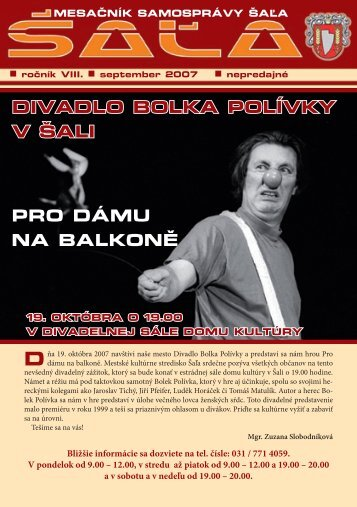 na stiahnutie (pdf - 1.95 MB) - Mesto Šaľa