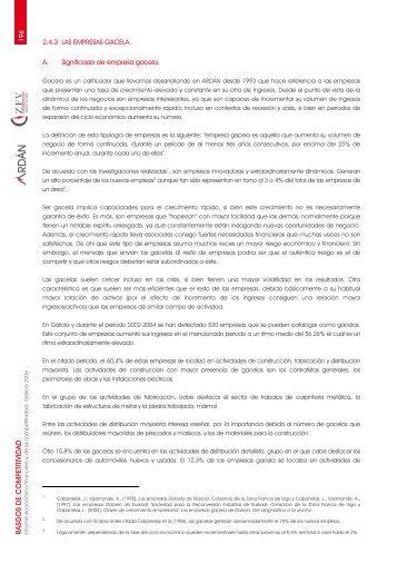2.4.3 Las empresas gacela - Ardan