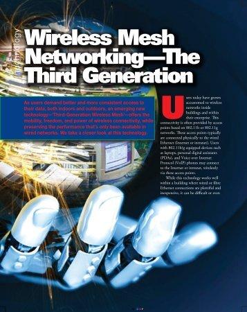 y Wireless Mesh Networking—The Third Generation - Meshdynamics