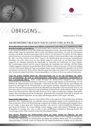 Newsletter vom 04. April 2011 - TOP-Investment GmbH