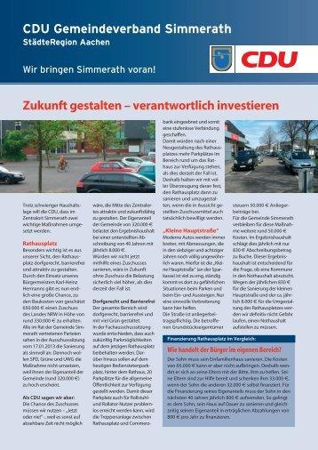 verantwortlich investieren - bei dem CDU-Gemeindeverband ...