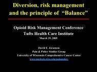 Presentation - Tufts Health Care Institute