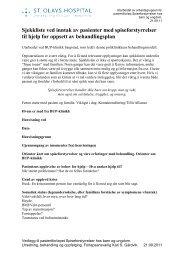 Sjekkliste ved inntak av pasienter med spiseforstyrrelser til hjelp for ...