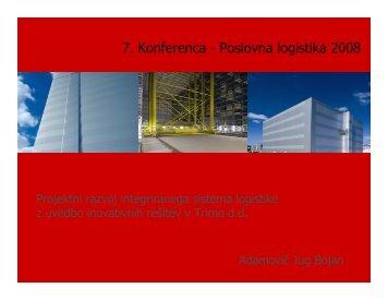 7. Konferenca - Poslovna logistika 2008 - Planet GV