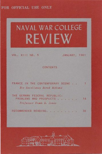 1961 January - US Naval War College
