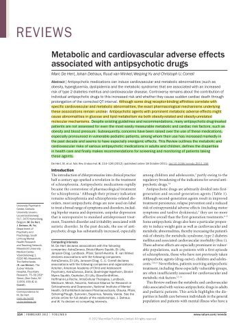 De Hert_Metabolic and cardiovascular adverse effects assoc with antipsychotic drugs_Nature Reviews Endocrinology 2012