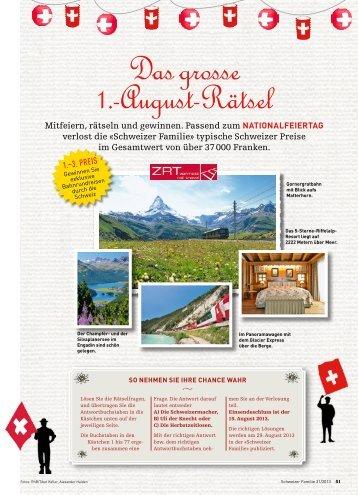 Das grosse 1.-August-Rätsel - Schweizer Familie