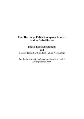 Financials - Thai Beverage Public Company Limited