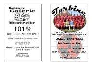 Stadionmagazin 13/2007 Turbine - FC FischbachII - VfB Rotenstein ...