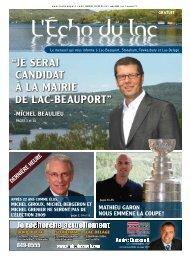 """""""JE SERAI CANDIDAT à LA MAIRIE DE LAC ... - L'Écho du Lac"""