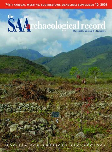 Number 3, May - Society for American Archaeology