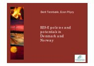 RES-E policies and potentials in Denmark and Norway