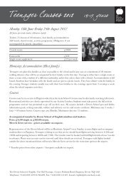 Teenager Courses 2012 13-17 years - The Devon School of English