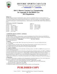 HSCC Historic Touring Car Championship for ... - Cncs-ncsc.be