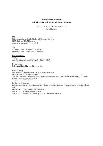 Wochenendseminar mit Pierre Franckh und Michaela Merten