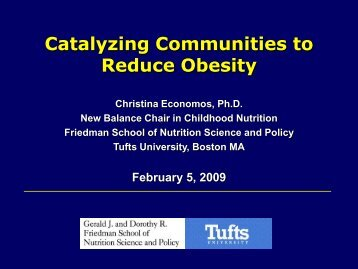 Catalyzing Communities to Reduce Obesity - CHIP