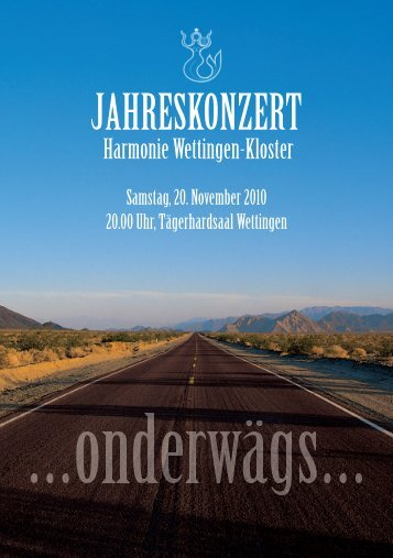 JAHRESKONZERT - Harmonie Wettingen-Kloster
