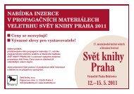 SK2011 - nabídka inzerce.cdr - Book World Prague 2011 - Svět knihy