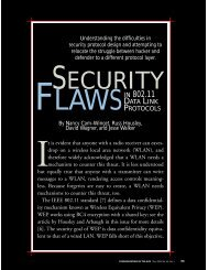 Security flaws in 802.11 data link protocols