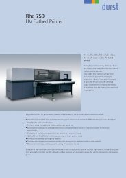 Rho 750 UV Flatbed Printer