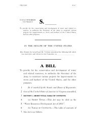 Water Resources Development Act - U.S. Senate Environment and ...