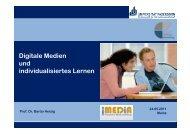 Digitale Medien und individualisiertes Lernen - iMedia