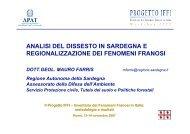 Analisi del dissesto in Sardegna e regionalizzazione dei ... - Ispra