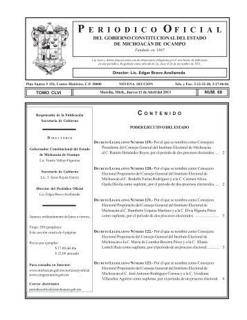 Periódico Oficial - Michoacán