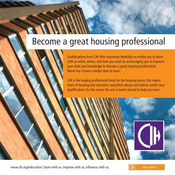Become a great housing professional - Chartered Institute of Housing